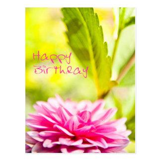 Cartão Postal Happy Birthday _flor