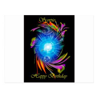 Cartão Postal Happy Birthday Scorpio