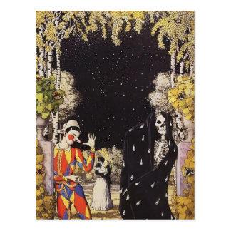 Cartão Postal Harlequin e morte de Konstantin Somov-