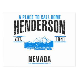 Cartão Postal Henderson