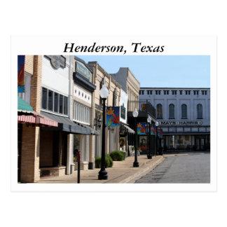 Cartão Postal Henderson histórico, Texas