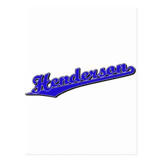 Cartão Postal Henderson no azul