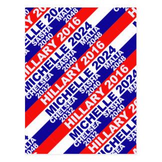 Cartão Postal Hillary, Michelle, Chelsea, Sasha, Malia