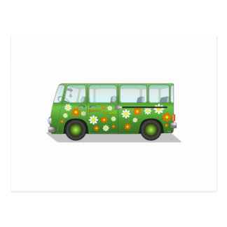 Cartão Postal Hippy Van