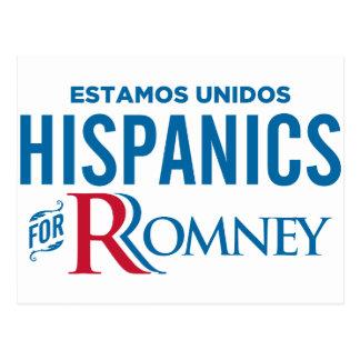 Cartão Postal Hispânicos para Romney