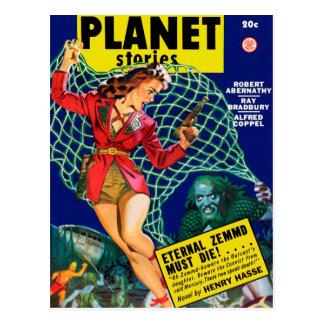Cartão Postal Histórias do planeta - Zemmd eterno deve morrer!