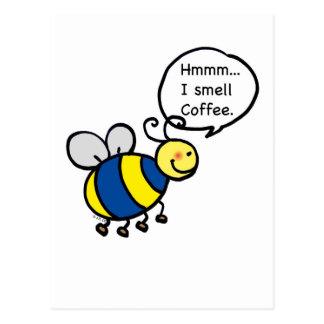 Cartão Postal Hmmm… Eu cheiro o café