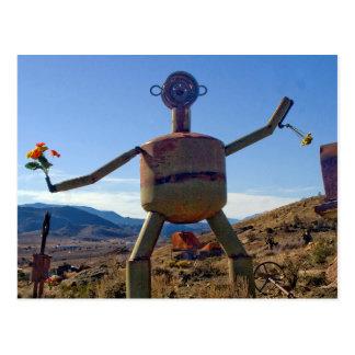 Cartão Postal Homem com flores, Nevada do metal