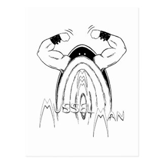 Cartão Postal Homem do mexilhão