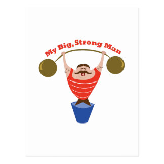 Cartão Postal Homem forte grande