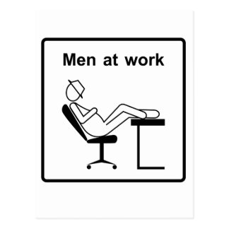 Cartão Postal homens em work.ai