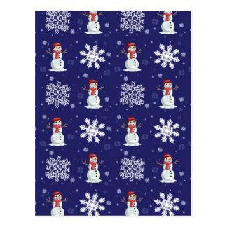 Cartão Postal Homens nevado