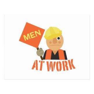 Cartão Postal Homens no trabalho