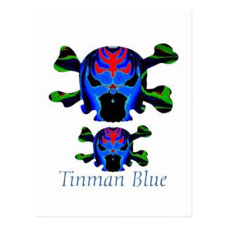 Cartão Postal Ícone AZUL de TINMAN: Desenhos animados engraçados