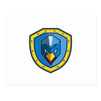 Cartão Postal Ícone azul do protetor do Mohawk da galinha