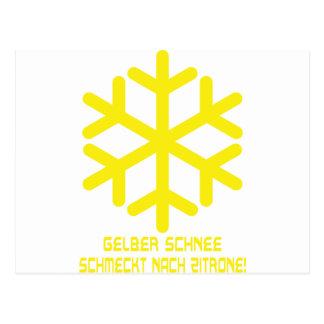 Cartão Postal ícone do schnee do gelber