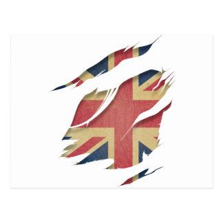 Cartão Postal Identidade do Reino Unido da bandeira de Wellcoda