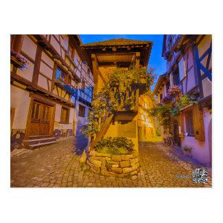 Cartão Postal iEguisheim do l'Allemand-Sul da rua de Rua du