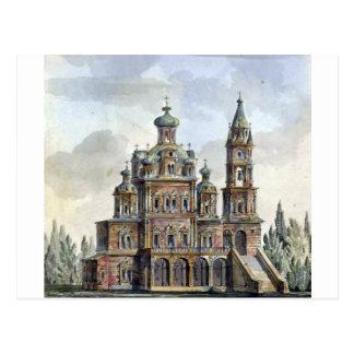 Cartão Postal Igreja da suposição em Pokrovka por Giacomo