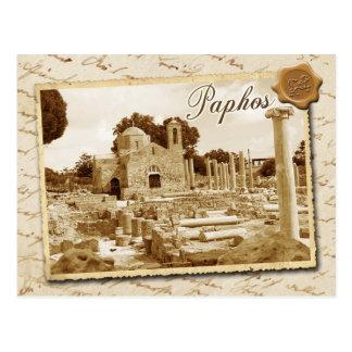 Cartão Postal Igreja de Panagia Chrysopolitissa, Paphos, Chipre