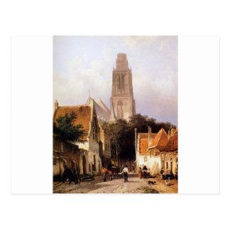Cartão Postal Igreja em Zaltbommel por Cornelis Springer