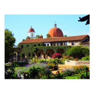 Cartão Postal Igreja espanhola da missão de Califórnia