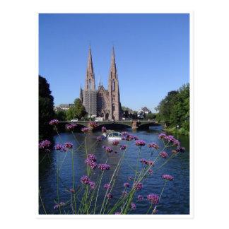 Cartão Postal Igreja Santo-Paul de Estrasburgo