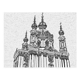 Cartão Postal Igreja ucraniana