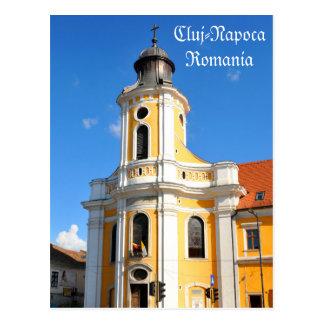 Cartão Postal Igreja velha em Cluj Napoca, Romania
