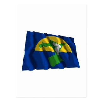 Cartão Postal Ilhas de Chatham que acenam a bandeira