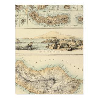 Cartão Postal Ilhas portuguesas no Oceano Atlântico