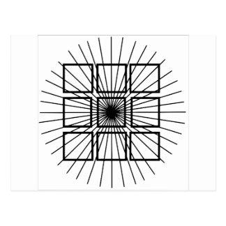 Cartão Postal Ilusão óptica quadrada