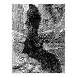 Cartão Postal Ilustração 1885 do bastão de vampiro