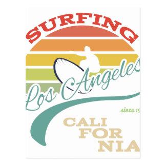 Cartão Postal Ilustração do surf de Califórnia, gráficos do