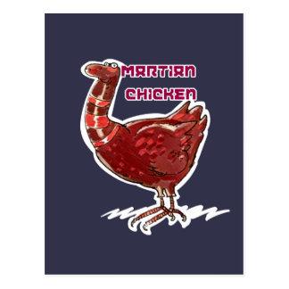 Cartão Postal ilustração engraçada do estilo marciano dos
