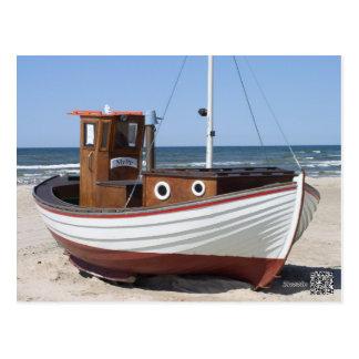 Cartão Postal Imagem do barco de pesca
