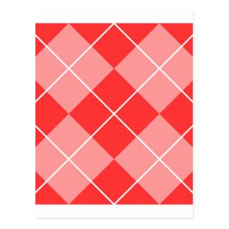 Cartão Postal Imagem do teste padrão de Argyle