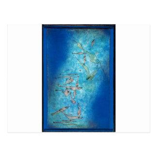 Cartão Postal Imagem dos peixes por Paul Klee