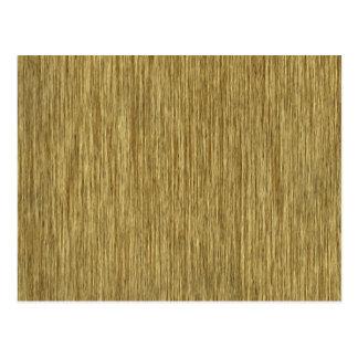 Cartão Postal Impressão de madeira granulado rústico natural