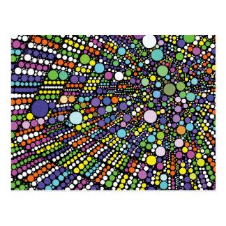 Cartão Postal Impressão geométrico abstrato de Starburst