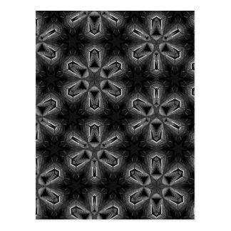Cartão Postal Impressão preto e branco do caleidoscópio