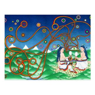 Cartão Postal Incorporando o coração do Sun e da lua [cartão]