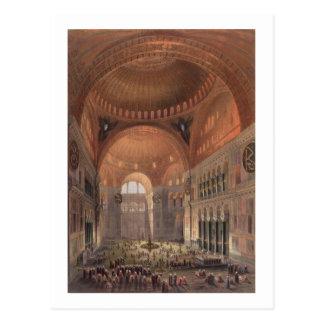 Cartão Postal Interior de Haghia Sophia, Constantinople, bar. 18