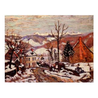 Cartão Postal Inverno no d'Auvergne de Sauves do santo