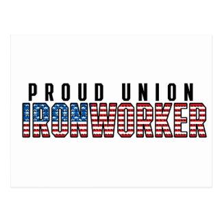 Cartão Postal Ironworker da união