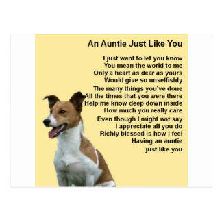 Cartão Postal Jack Russell - Auntie Poema
