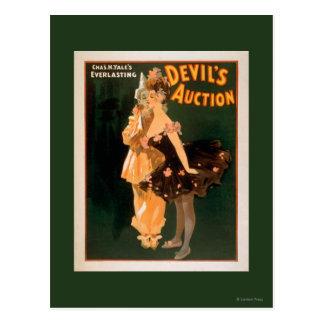Cartão Postal Jogo do leilão do diabo eterno de Yale