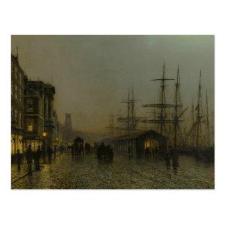 Cartão Postal John Atkinson Grimshaw - Glasgow, sábado à noite