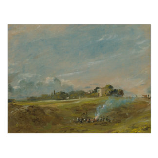 Cartão Postal John Constable - charneca de Hampstead, com uma