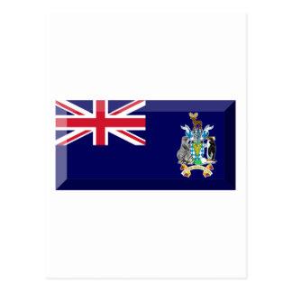 Cartão Postal Jóia sul da bandeira de Geórgia & de ilhas de